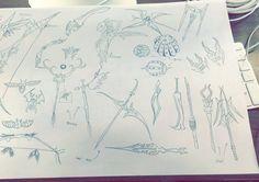 Thumb nail drawings