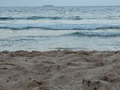 sand, shells, sunset, ship