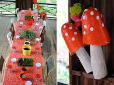 Amazing mushroom-themed party by Page Marchese Norman, an owner of Purl Soho.
