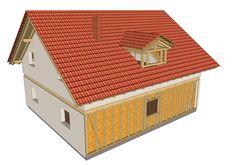 Casa a 2 piani con abbaino e parete a telaio
