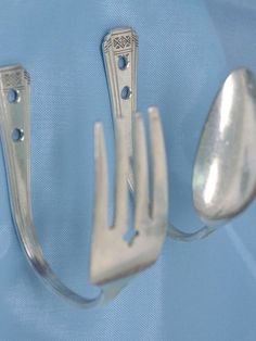 Upcycled Spoon and Fork Hooks - Dress Up Your Design: Accessorize a Bland Kitchen on HGTV