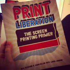 Absolutely love this book by @printliberation it's been a huge help full of great tips. It has already got grubby ink finger prints all over! #toadegree #screenprint #printliberation #experts #ink #book #inspiration #yourdegree by to_a_degree_clothing