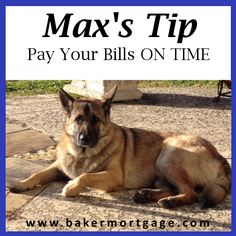 Max's (Our Mortgage Expert) Tip: Pay Your Bills ON TIME Most lenders like to see a borrower with a debt-to-income ratio of 43% or less. So when preparing to buy a home, pay more than the minimum on your bills and do so ON TIME.