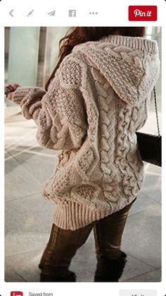 Korean fashion winter · khaki geometric collar with hat loose wool cardigans hooded sweater, wool cardigan, sweater coats Hooded Cardigan, Wool Cardigan, Sweater Jacket, Comfy Sweater, Chunky Sweaters, Sweater Weather, Cable Sweater, Women's Sweaters, Knit Jacket