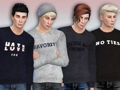 The Sims Resource: Favorite Sweaters by Simlark • Sims 4 Downloads