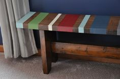 Painters tape and paint....find an old bench!t