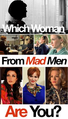 """Which Woman From """"Mad Men"""" Are You?"""