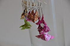Boucles d'oreilles en Origami : Le Papillon Prix : 7 euros pièce
