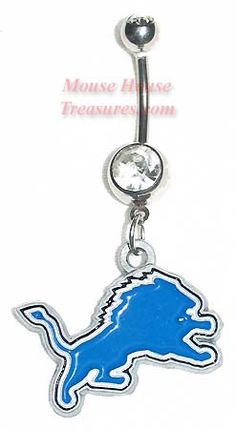 Detroit Lions Bellybutton Rings