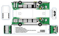 Woodstock Transit paper bus model by R. Flores. DIY paper craft