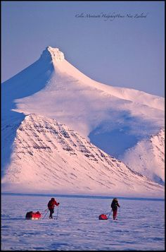 ˚A ski expedition to cross Svalbard from Ny Alesund to Longyearbyen, Arctic Norway
