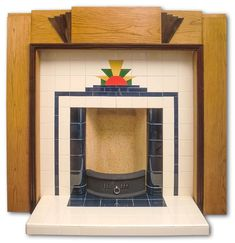 Sunrise tiled fireplace insert   Twentieth Century Fireplaces