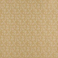 Gold and White Vine Leaves Jacquard Woven Upholstery Fabric
