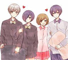Fueguchi Hinami [Tokyo Ghoul]'s photos Touka Kaneki, Ayato Kirishima, Anime Love Couple, Cute Anime Couples, Couple Art, Kou Diabolik Lovers, Pug, Nagisa Free, Otaku