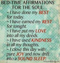 Relax and enjoy sleep