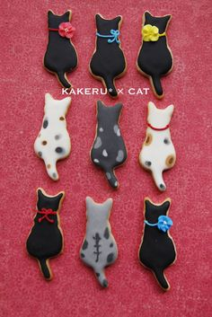An idea of how to decorate our sitting cat with tail cookie cutter