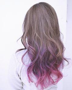 New hair brunette ombre haircolor Ideas Diy Hair Dye, Dip Dye Hair, Dye My Hair, New Hair, Hair Color Streaks, Ombre Hair Color, Cool Hair Color, Korean Hair Color, Creative Hair Color