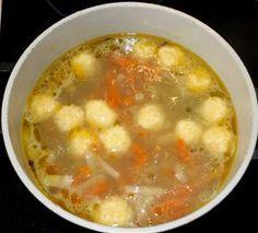 Sajtgombóc leves recept