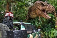 Disney's Jurassic Park ride Florida, Orlando, Miami en Key West met manlief en vrienden in 2000