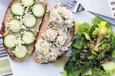 """Vegan jackfruit """"tuna"""" sandwich"""