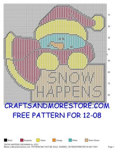 Snow Happens Sign (Plastic Canvas)