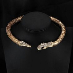 Snake necklace gold plated necklace Leash necklace Fashion Necklace boho necklace snake leash