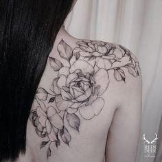 Image result for rose vine tattoo, shoulder
