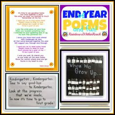 End of Year Poems, Piggyback Song and Festivities RoundUP at RainbowsWithinReach #Kinderchat