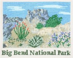 "Big Bend National Park Counted Cross Stitch Kit - 18 count 7.25"" x 5.75"""