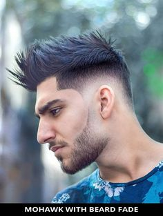 Choose this popular mohawk with beard fade for a fresh makeover! See more details for it and the rest of the 22 incredible pictures of beard fade haircut and hairstyle. // Photo Credit: @ali_heydari_org on Instagram Latest Hairstyles, Hairstyles Haircuts, Beard Fade, Rugged Look, Beard Styles For Men, Fade Haircut, Photo Credit, Hair Cuts, The Incredibles