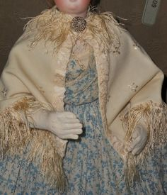 ~~~ Elegant Antique French Poupee Cashmere Woolen Day Cape ~~~ from whendreamscometrue on Ruby Lane
