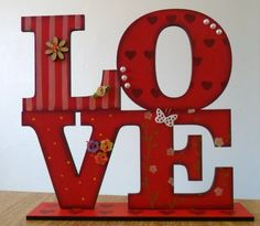 Silviaartesanato - Palavra LOVE