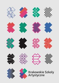 Cracow School of Art and Fashion Design ID on Branding Served #Generative.  Great stuff!