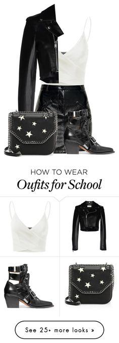 """""""⟶ Alisa DiMaggio First Day of School ⟵"""" by alisa-dimaggio on Polyvore featuring Lipsy, Chloé, Doublju, Yves Saint Laurent and STELLA McCARTNEY"""