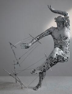 Yuichi Ikehata works - Fragment of detail Human Sculpture, Sculpture Art, Male Torso, Torso Man, Plaster Art, 3d Figures, Mixed Media Sculpture, Identity Art, Anatomy Art