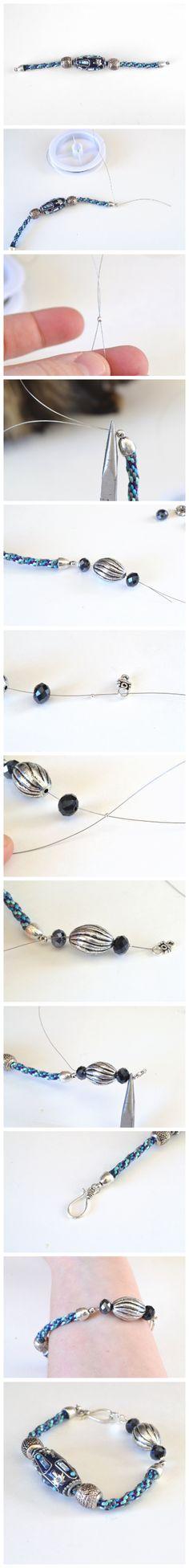 DIY Bracelet Using a Too Short Kumihimo Braid