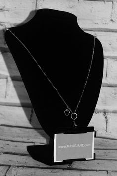 Want my work pass on this Necklace Lanyard by Masie Jane - Open Heart Charm