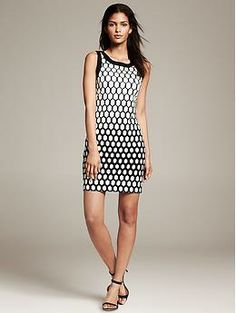 Geometric: A flattering honeycomb frock to add to your closet.