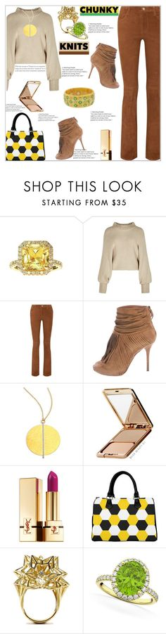 """Fall Fashion"" by atelier-briella ❤ liked on Polyvore featuring Rosetta Getty, J Brand, Gucci, Gurhan, Napoleon Perdis, Yves Saint Laurent, John Brevard, Allurez, Mark Davis and bag"