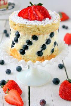 Fraisier #recipe, chiffon cake