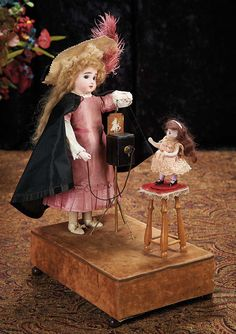 """The Lifelong Collection of Berta Leon Hackney: 47 Extremely Rare French Musical Automaton """"Bebe Photographe"""""""