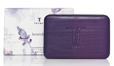 Thymes Glycerin Bar Soap, Lavender by Thymes. $12.00. Soap created from botanically enriched pure vegetable glycerin and the calming essence of soft, velvet lavender. Thymes guarantees the safety of products without ever testing on animals. Lavender is a composition of soft, velvet lavender blended with the warmth of rosewood, clary sage and violet leaf. Contains pure vegetable glycerin and moisturizing jojoba oil. Also contains hydrating honey and supportive vitamin E. From...