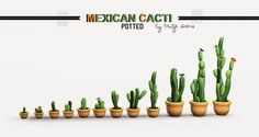 My Sims 3 Blog: Potted Mexican Cacti by Trutje