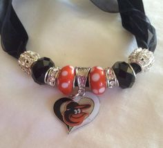 Baltimore ORIOLES inspired Necklace