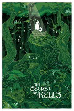 'The Secret Of Kells' by Jessica Seamans - Love that film, really cool animation style. The Secret Of Kells, Book Of Kells, Das Geheimnis Von Kells, Art And Illustration, Buch Design, Song Of The Sea, New Poster, Book Cover Design, Cover Art