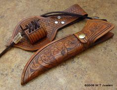 Very Unique Hunter with File Work and two-piece sheath.