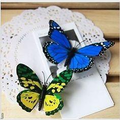 3D à double papillon artificiel de l'aile (couleur mixte)-ensemble de 10 – EUR € 2.57