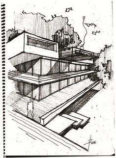 Architecture Drawing Practice pen and ink drawing #2 practicewenyu zhou | illustrations