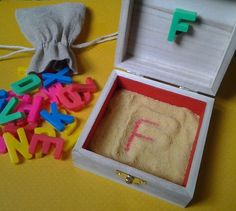 Portable Letter Formation Sand Box by LillianWes on Etsy Name Activities, Toddler Activities, Learning Tools, Kids Learning, Printing Practice, Creative Activities For Kids, Letter Formation, Learning Letters, Happy Mom