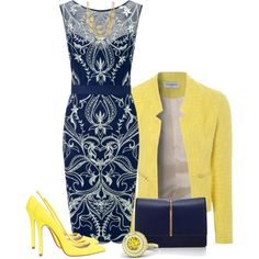 A fashion look from September 2014 featuring Lipsy dresses, True Decadence blazers y ASOS pumps. Browse and shop related looks.